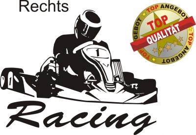 Aufkleber Kart Racing Schwarz Shirtshop Wagner