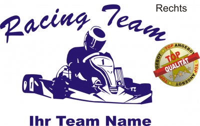 Aufkleber Kart Team Dunkelblau Shirtshop Wagner