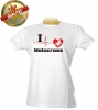 I Love Motocross Damen T-Shirt Weiß