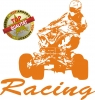 Quad Racing Aufkleber Orange
