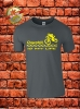 Downhill T-Shirt Charcoal Gelb